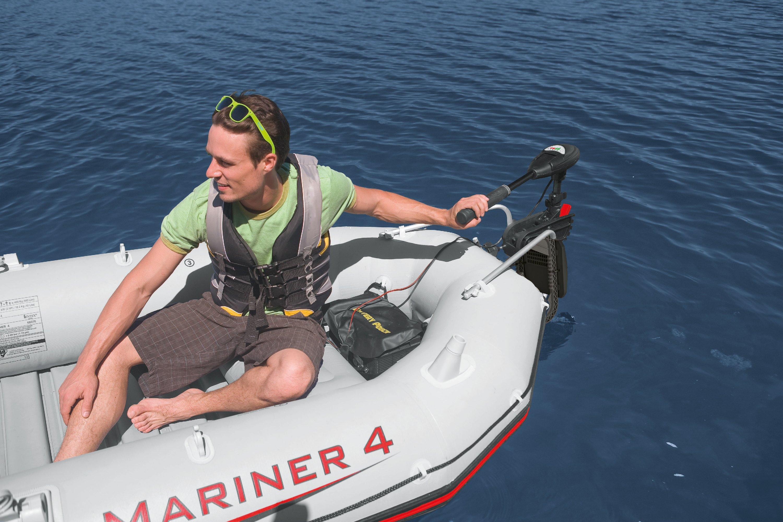 Intex 12v transom mount boat trolling motor excursion for Trolling motors for boats