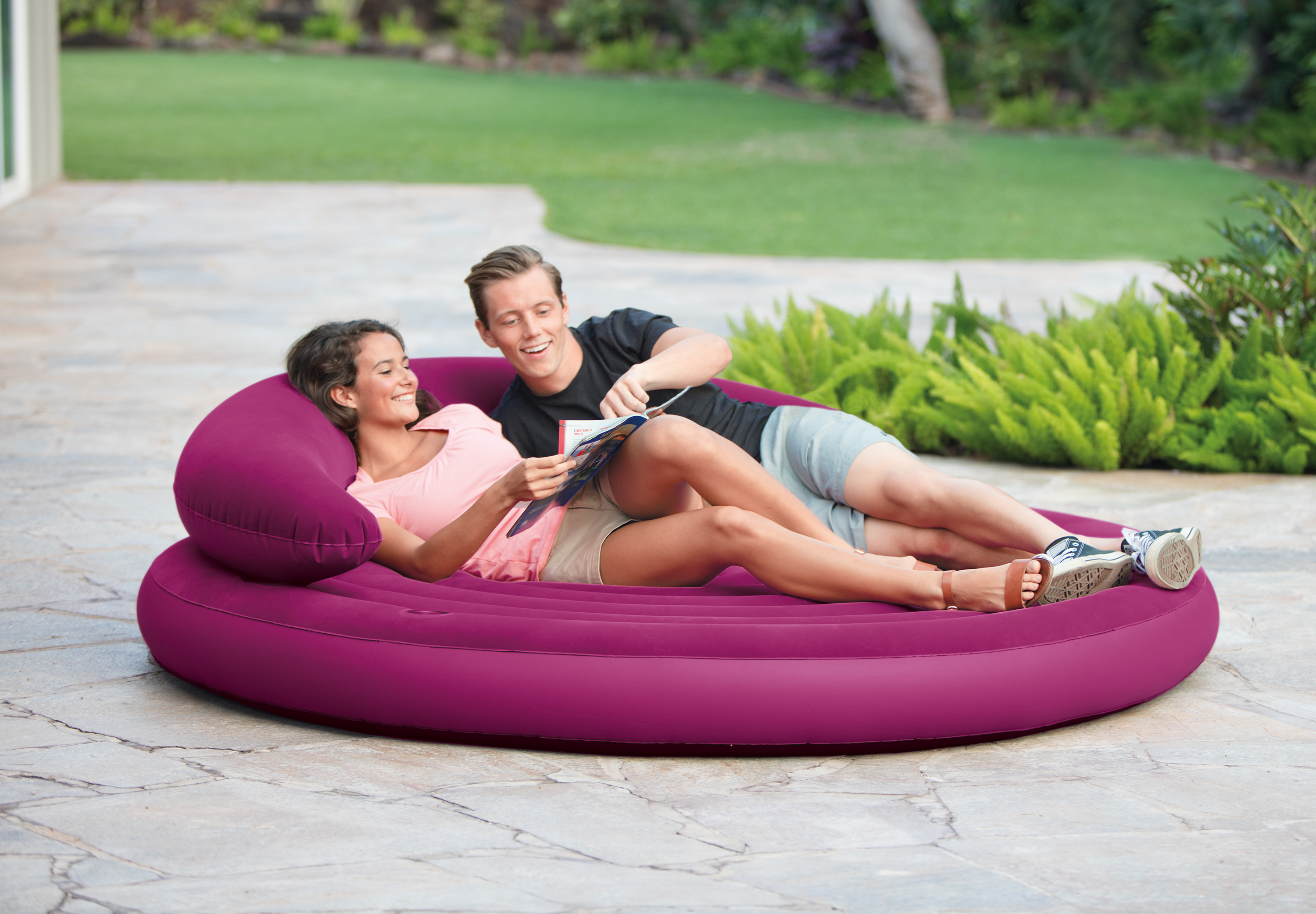 Intex Ultra Daybed Indoor Outdoor Inflatable Air Lounge