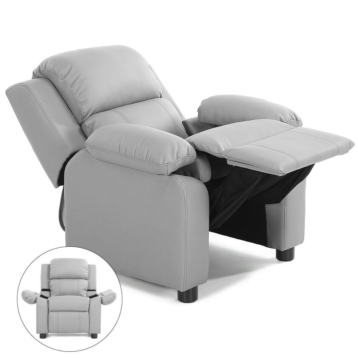 Deluxe Padded Kids Sofa Armchair Recliner Headrest Children