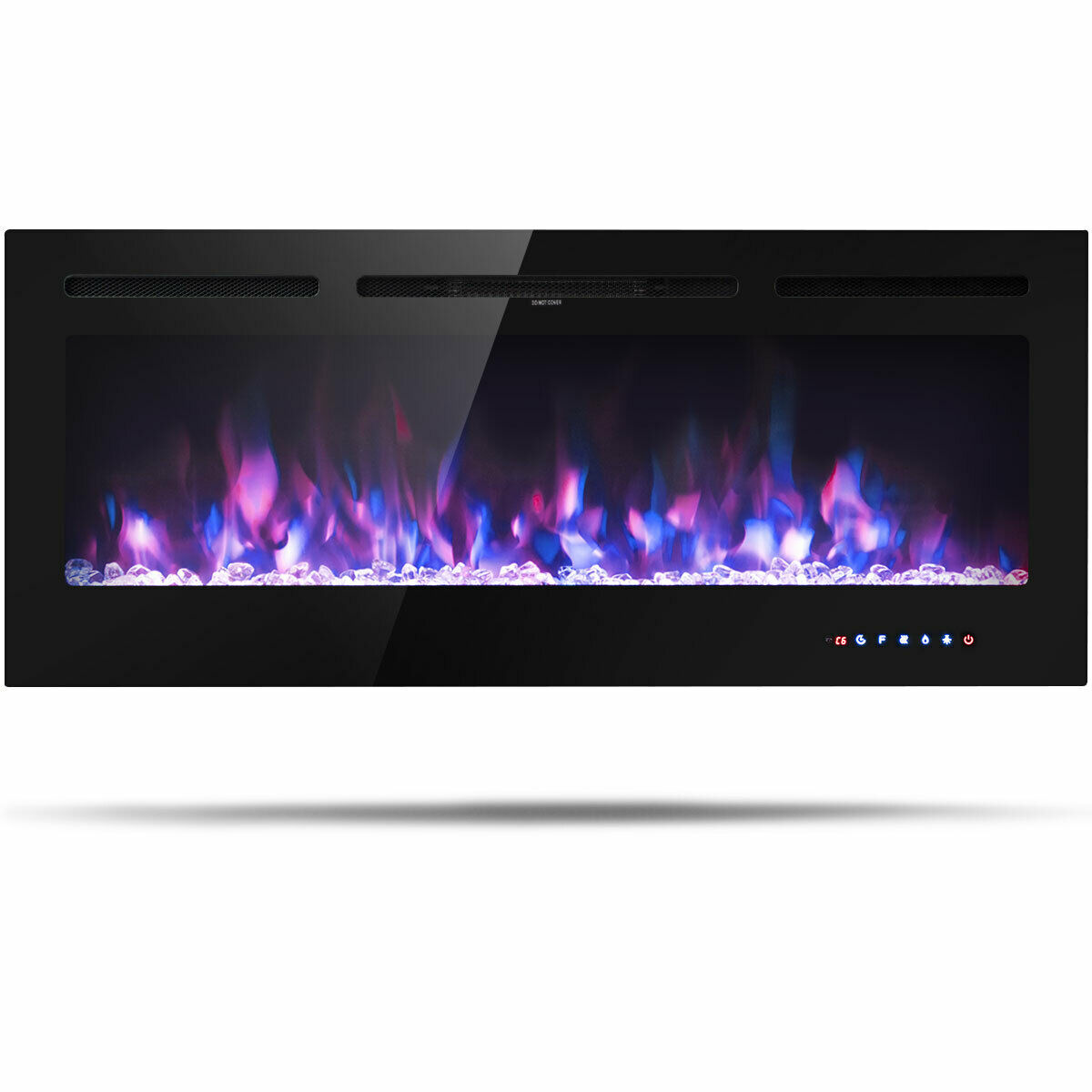 50'' Electric Fireplace Recessed and Wall Mounted 750W/1500W