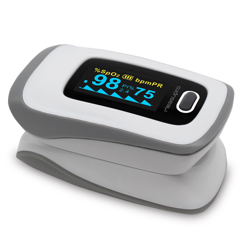 Measupro Ox250 Instant Read Finger Pulse Oximeter Blood