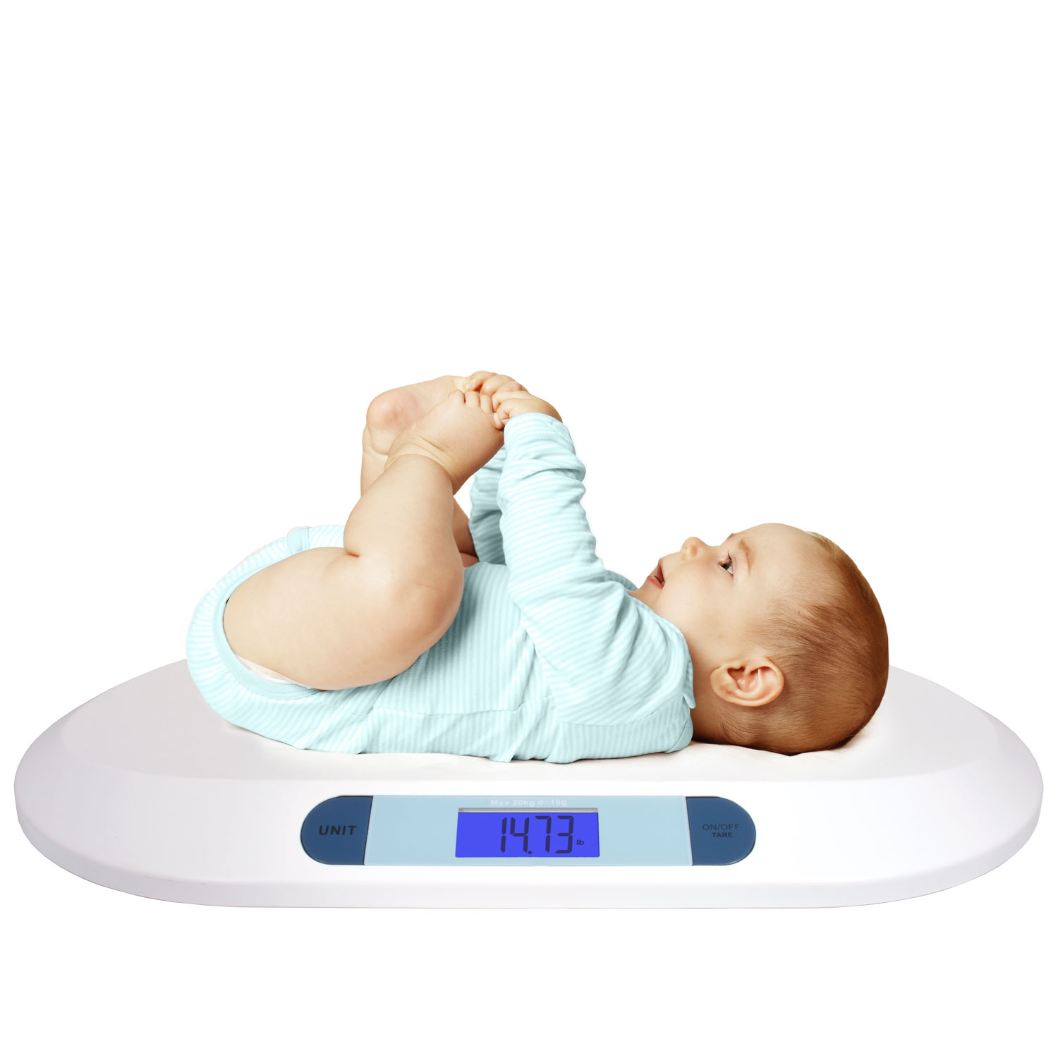 Smart Weigh Comfort Digital Baby Scale Large Backlit Lcd