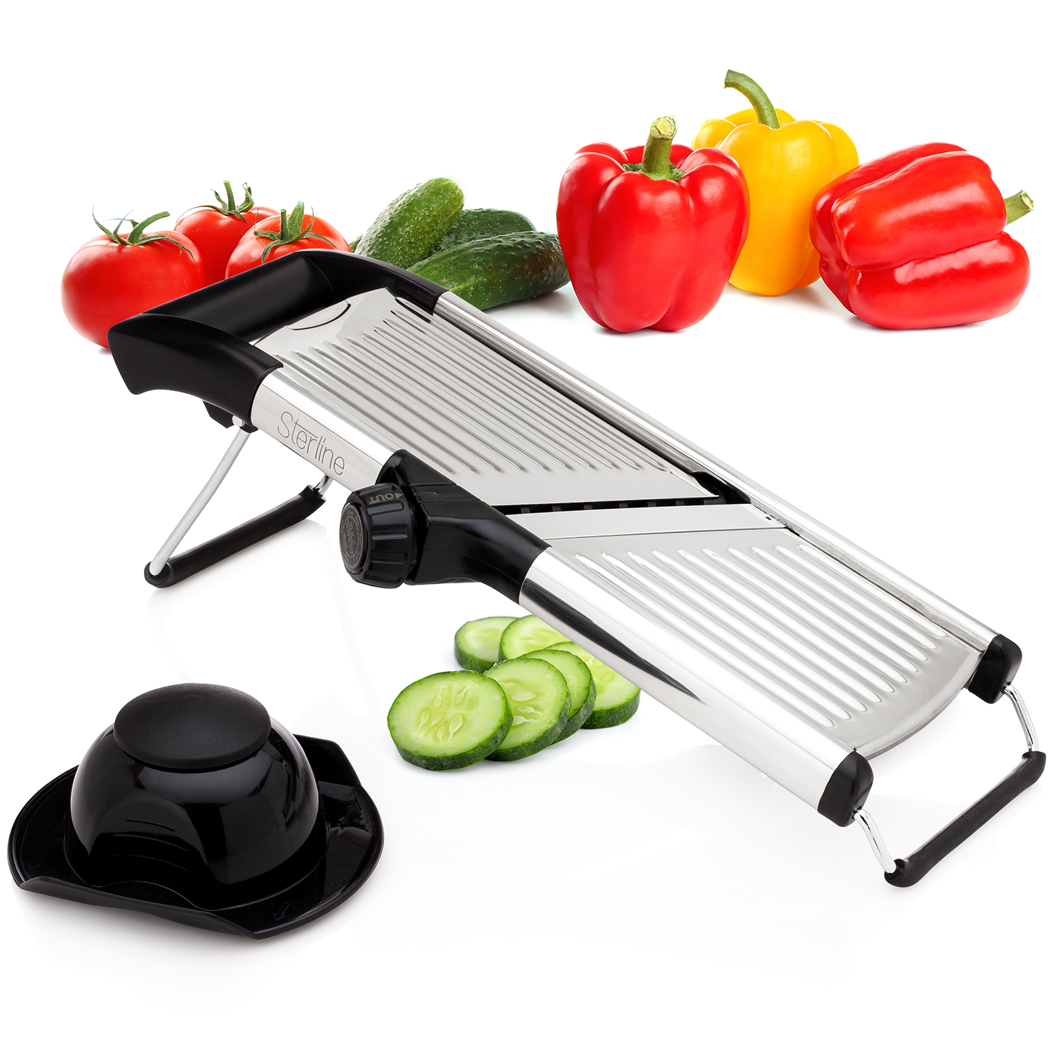 sterline adjustable mandoline vegetable potato food slicer stainless steel. Black Bedroom Furniture Sets. Home Design Ideas