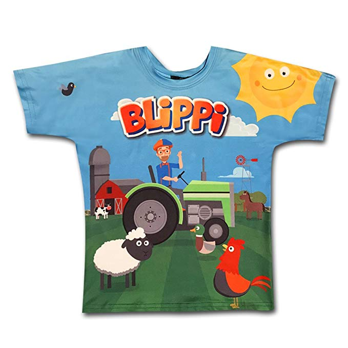 Blippi Official Replica Suspenders Shirt for Kids Size YXS Youth Extra Small