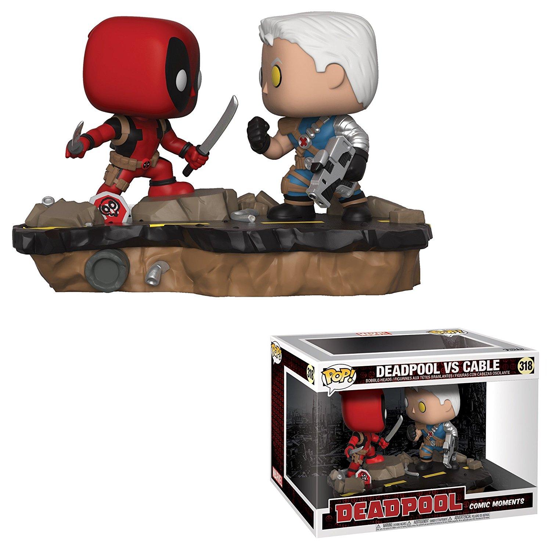 Funko Pop Marvel  Comic Moments-Deadpool Vs. Cable Collectible Figure,