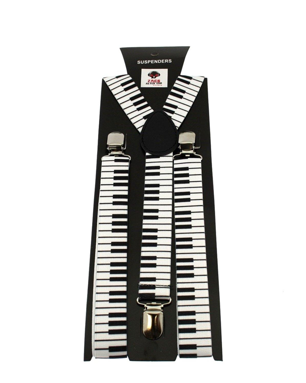 Zac/'s Alter Ego® Men// Ladies Adjustable Multi Lightning Bolt Braces// Suspenders