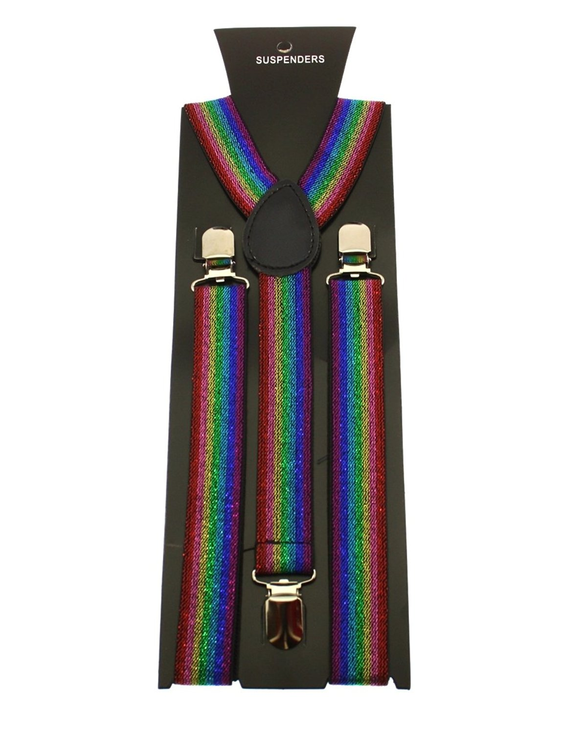Zac/'s Alter Ego Men// Ladies Adjustable Rainbow Spiral Tie Dye Braces// Suspenders