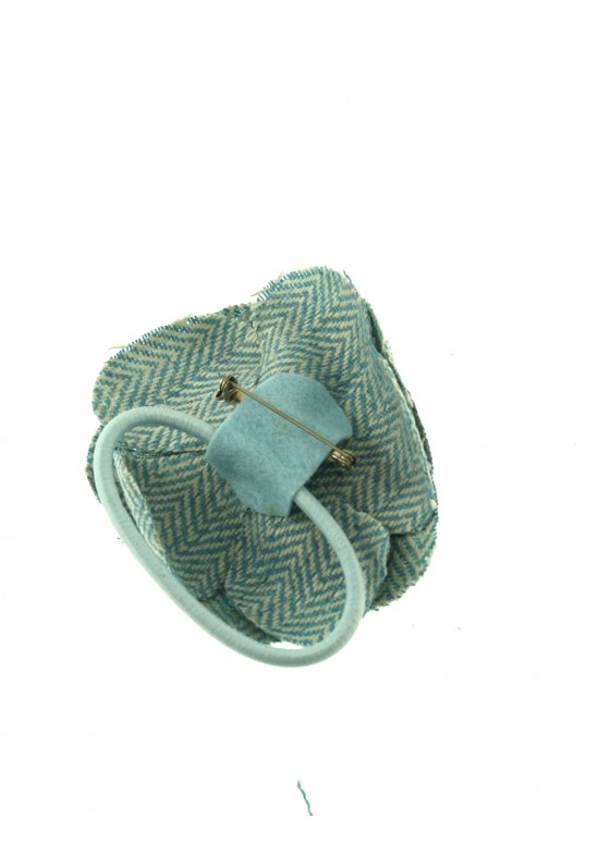Zac-039-s-Alter-Ego-Vintage-Style-Tweed-Fabric-Flower-on-Elastic-amp-Brooch-Pin