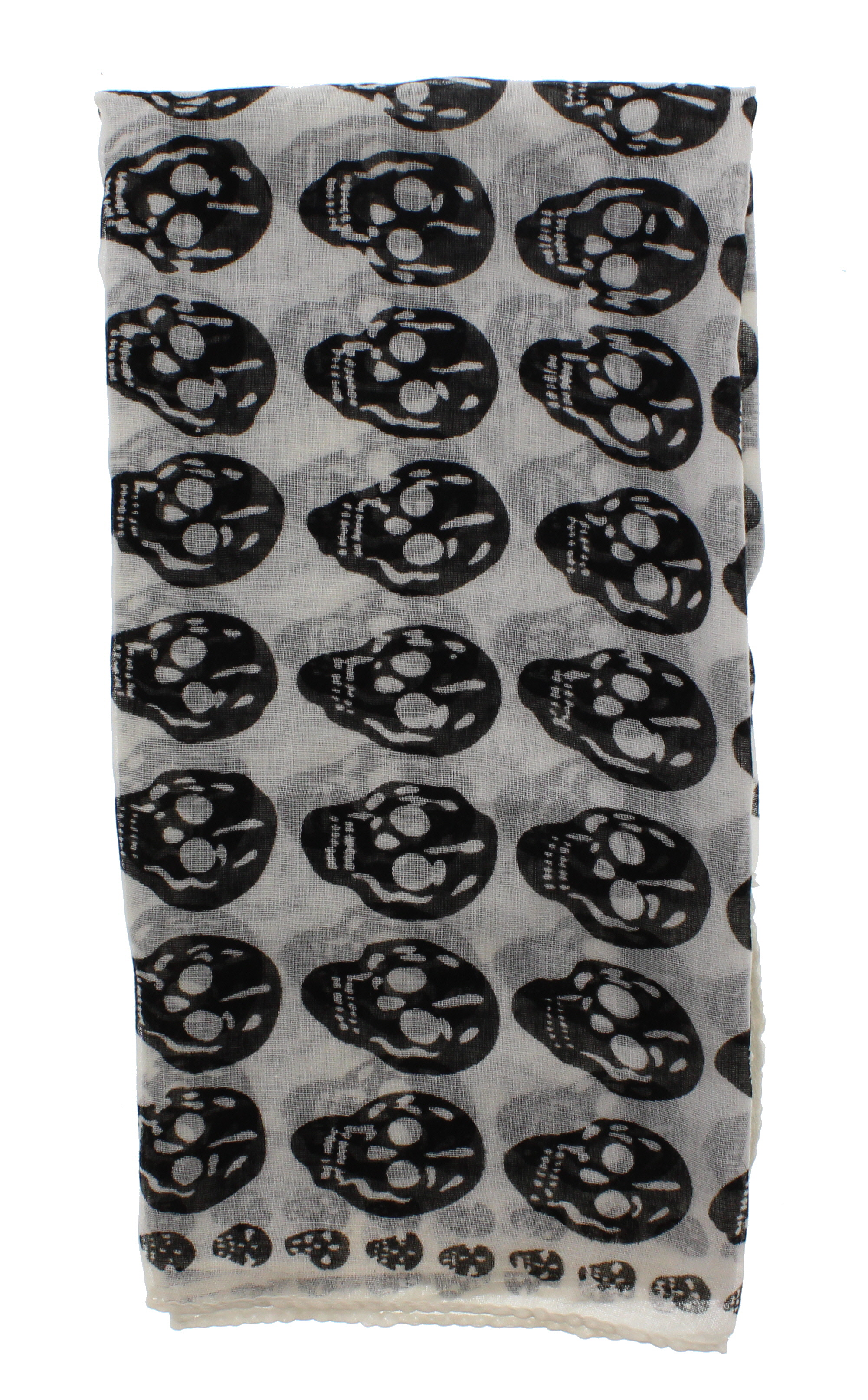 Zac/'s Alter Ego Long Lightweight Fashionable Unisex Skull Print Scarf