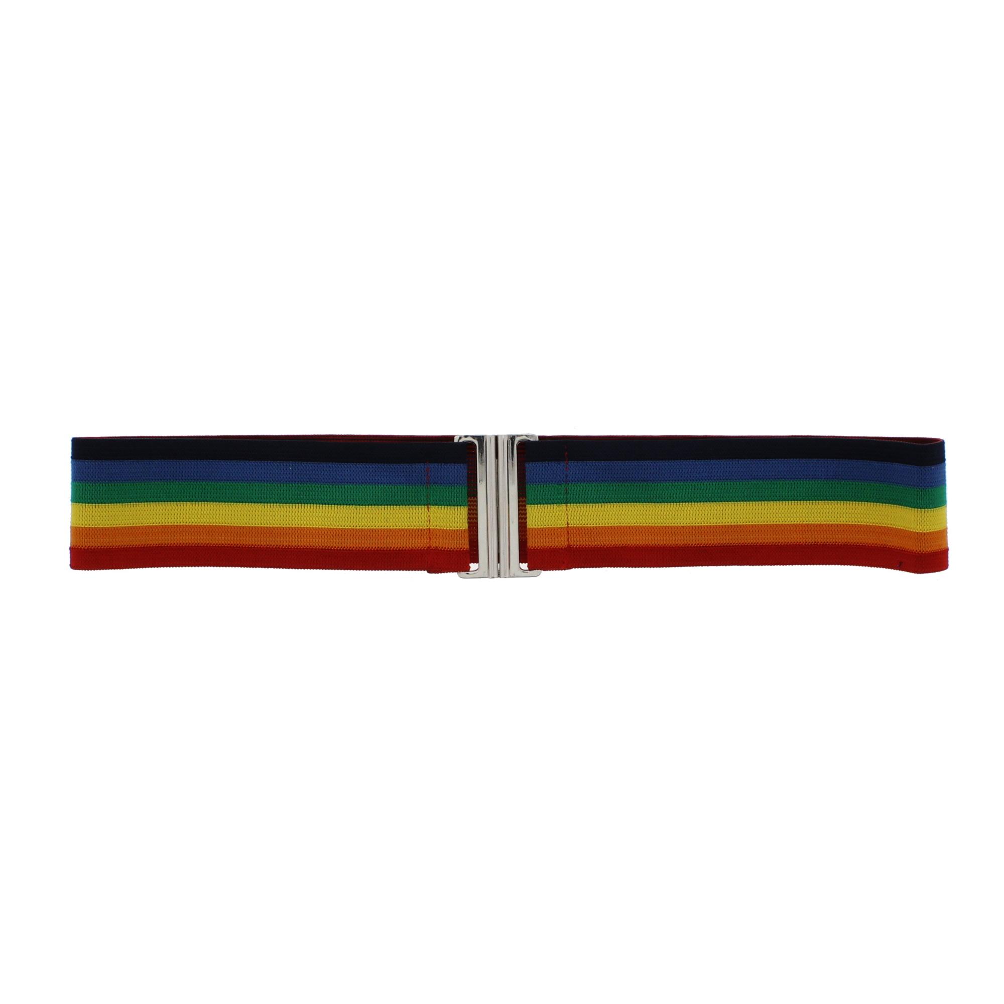 Zac/'s Alter Ego® Children/'s Rainbow Stripe Elasticated Belt