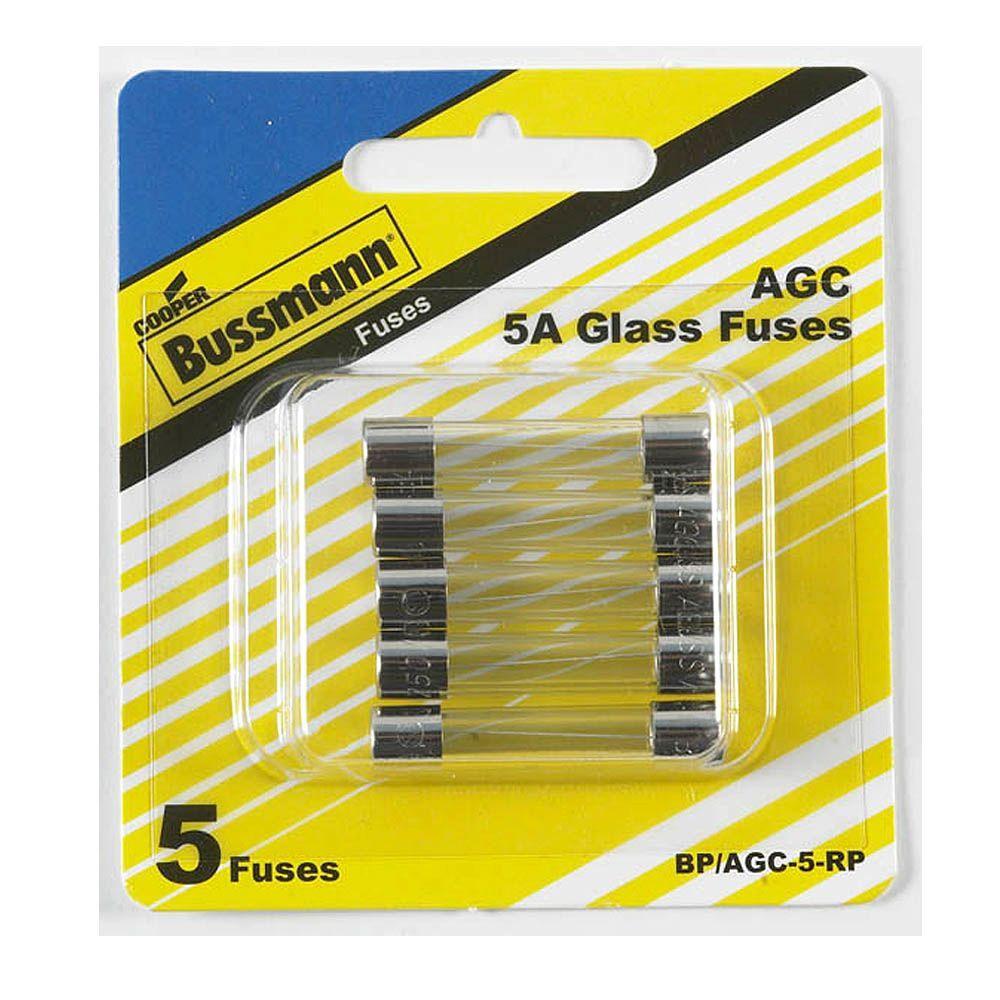 2-Pack Cooper Bussmann BP//MDL-6 Time-Delay Glass Tube Fuses 6A 250V