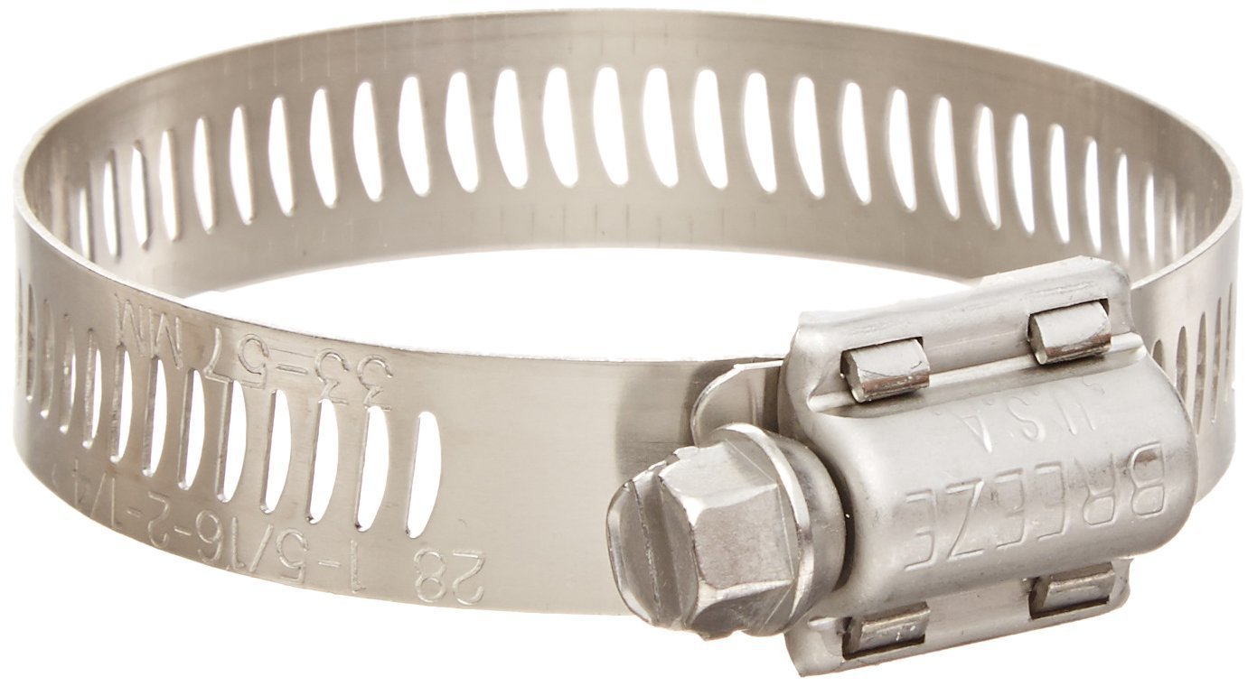 10 Pack Breeze 3706 Miniature Clamps with 300 Stainless Screw Effective Diameter Range 7//16-25//32 11mm - 20mm