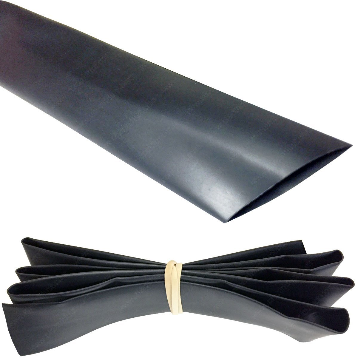 1 heat shrink tubing 2 1 50ft black ebay. Black Bedroom Furniture Sets. Home Design Ideas