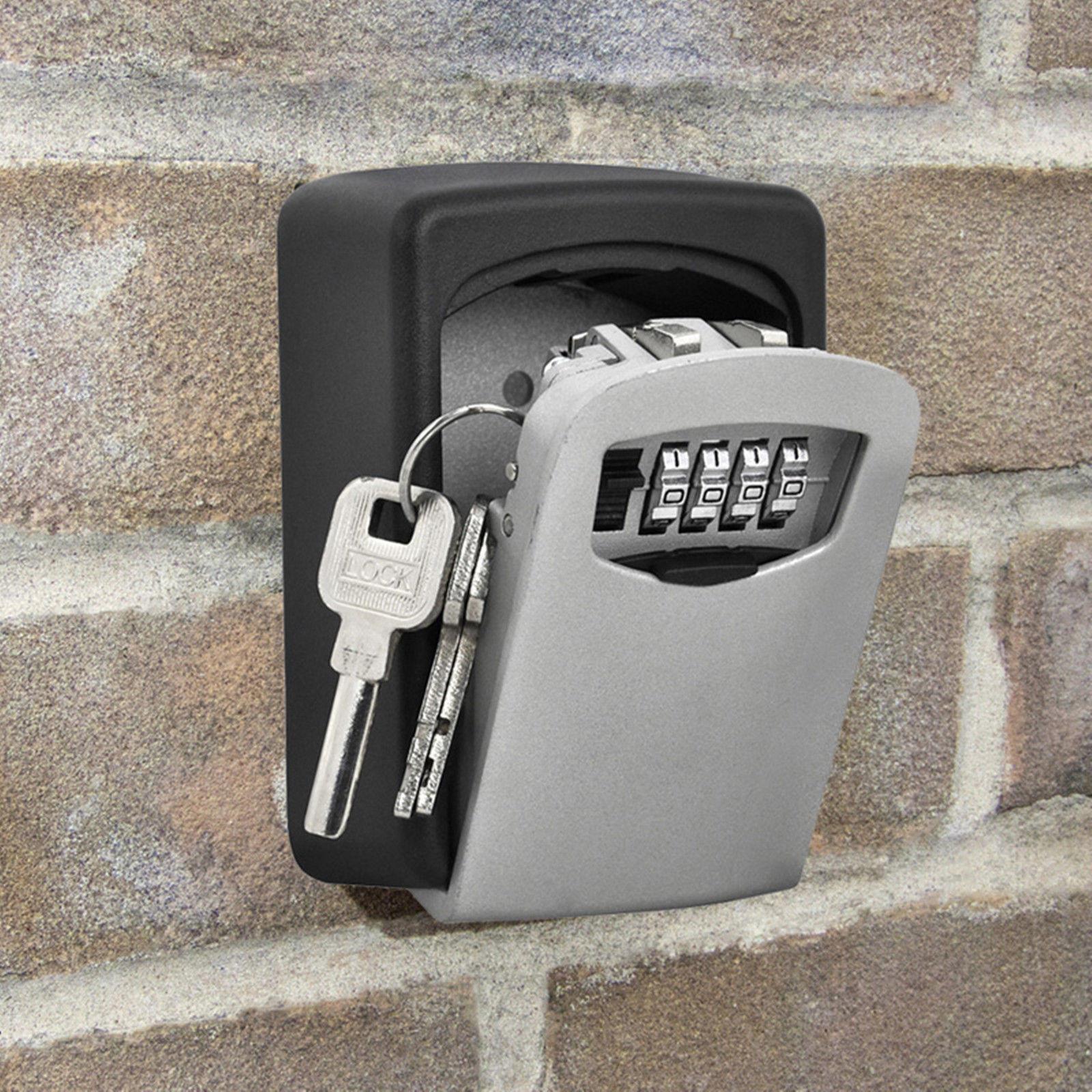 Wall Mount Key Box Home Security Custom Combination 4