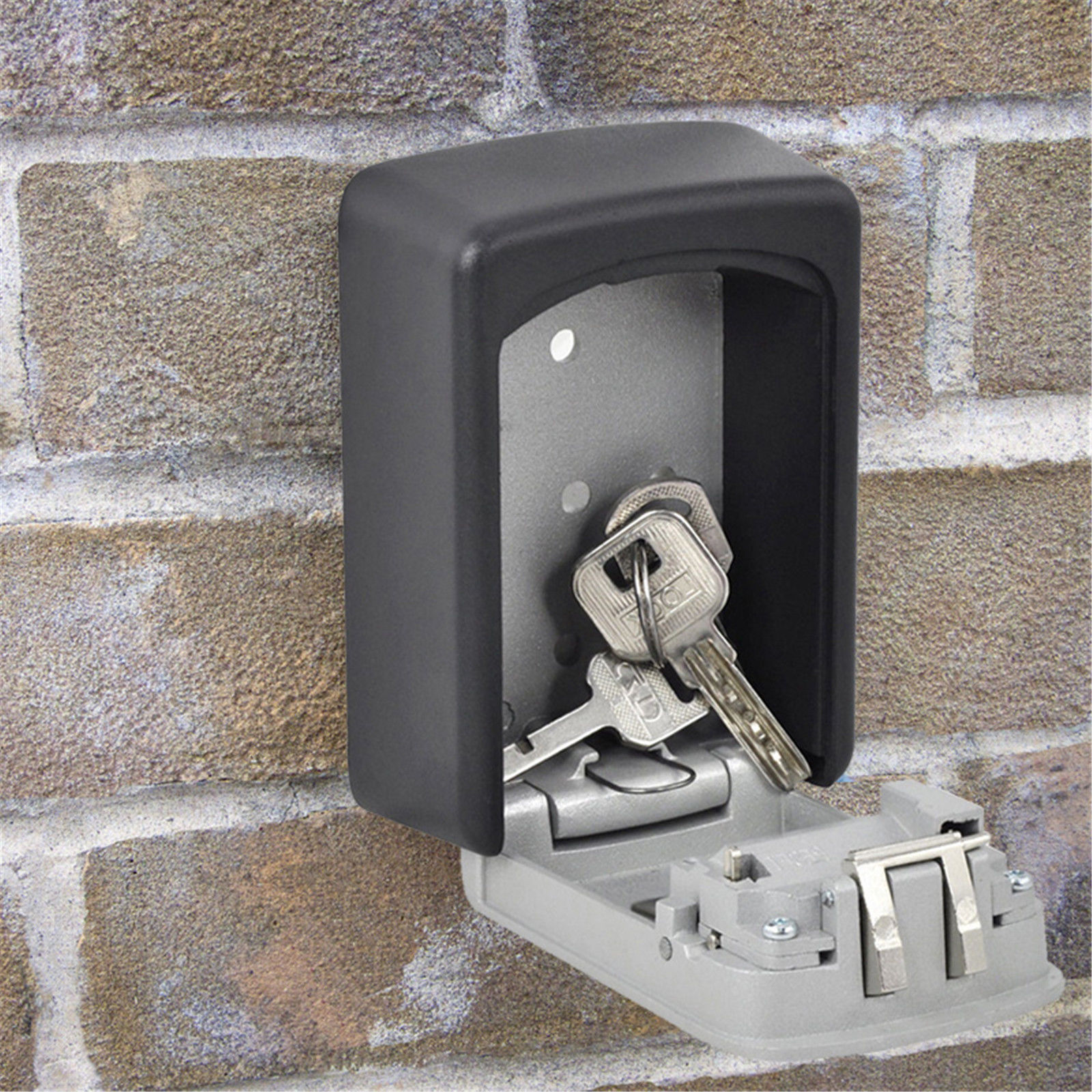 Wall Mount Key Box Home Security Custom Combination 4 Digit Lock Safe Storage Ebay