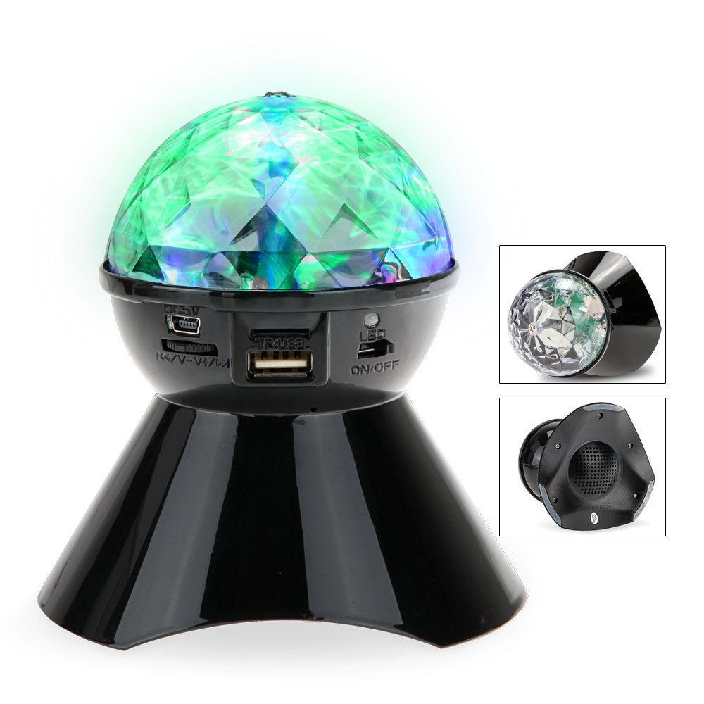 crystal ball led light wireless stereo speaker dj mp3 portable tf usb fm 4xcolor ebay. Black Bedroom Furniture Sets. Home Design Ideas