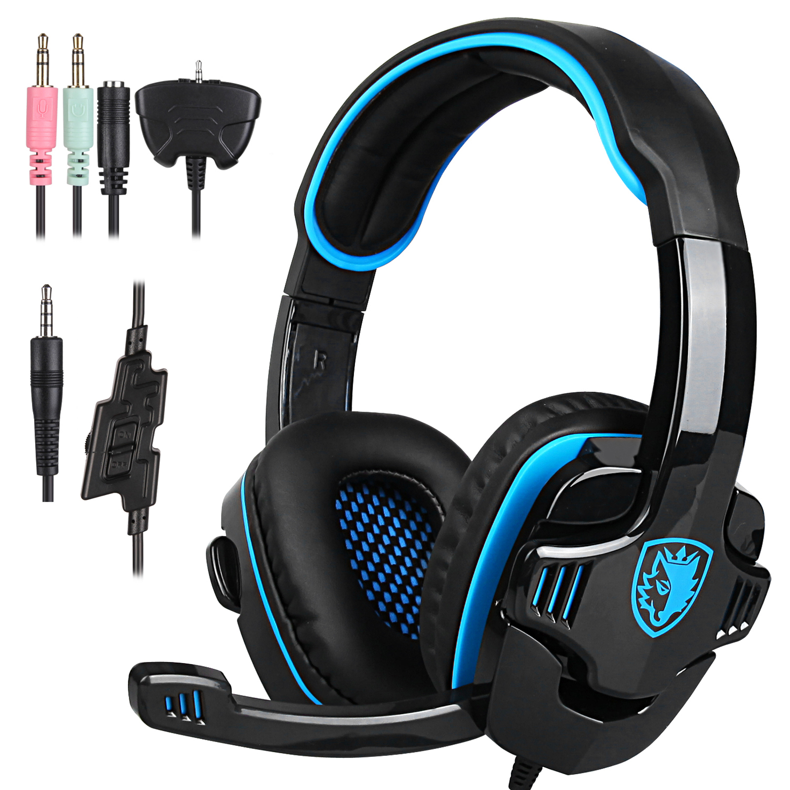 sades sa 708gt stereo wired gaming headsets headphones w mic for ps4 xbox ebay. Black Bedroom Furniture Sets. Home Design Ideas