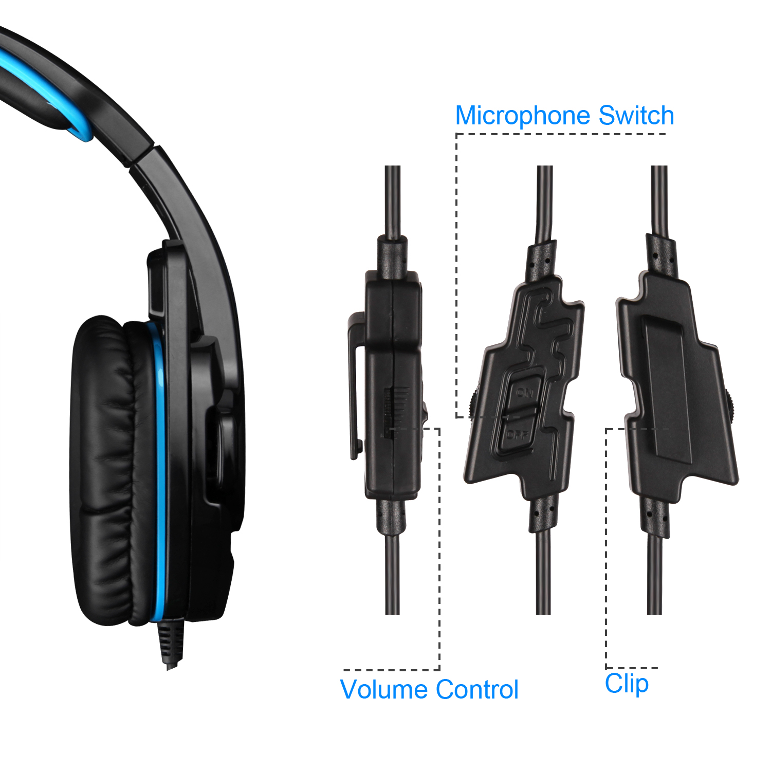 Sades708GT 3.5mm Gaming Headset Surround Stereo w/Mic for PS4 ...