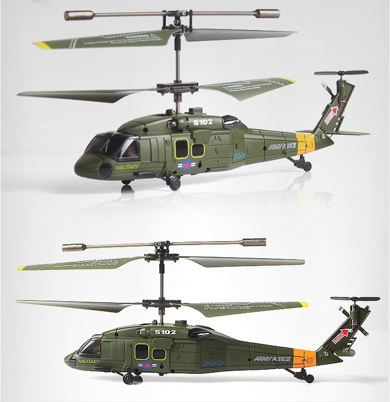 syma s102g 3ch remote control mini military rc helicopter. Black Bedroom Furniture Sets. Home Design Ideas