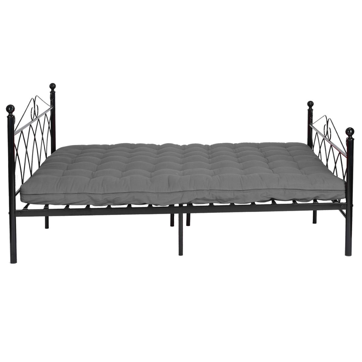 Full Size Metal Bed Frame Platform Headboards W 10 Legs