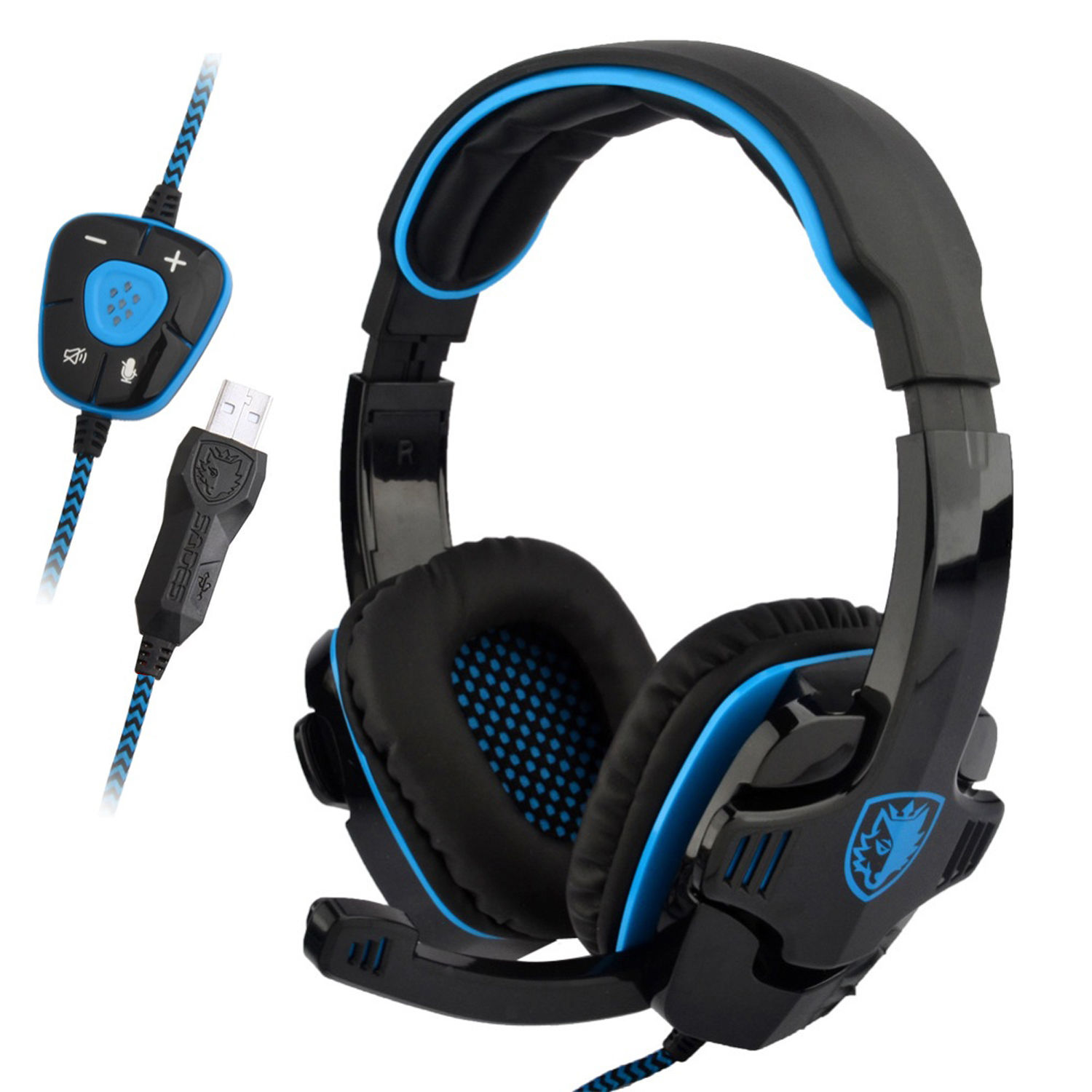 Sades SA-901 Stereo 7.1 Surround Gaming Headset USB Headband W/Mic for PC Laptop | eBay