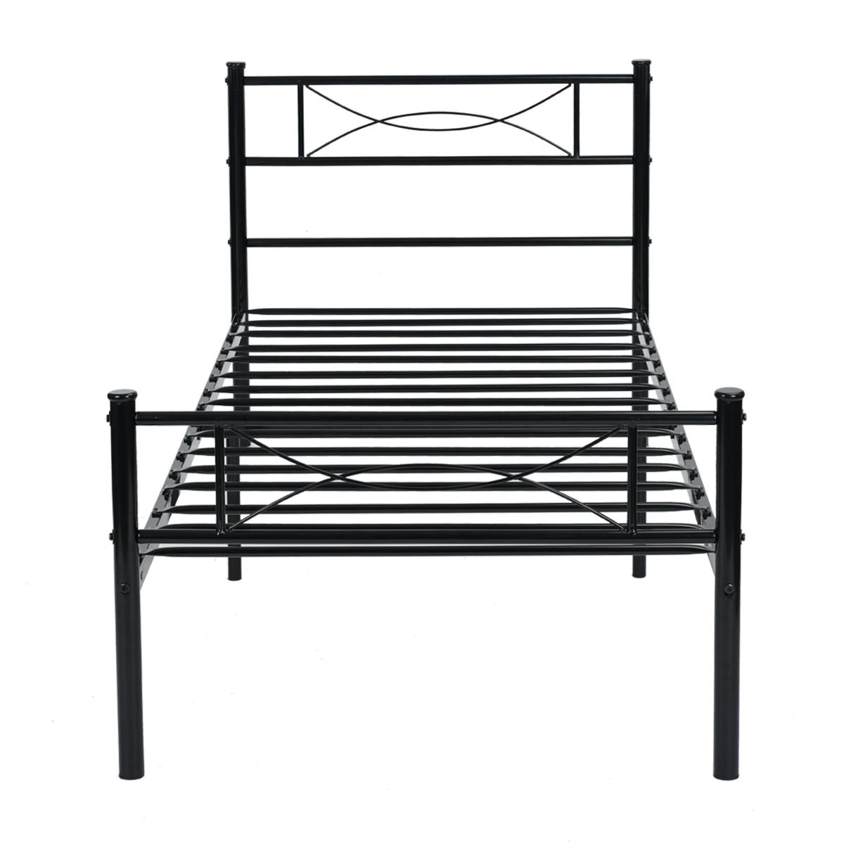 Marco de metal cama doble Tamaño Dormitorio Colchón de plataforma ...