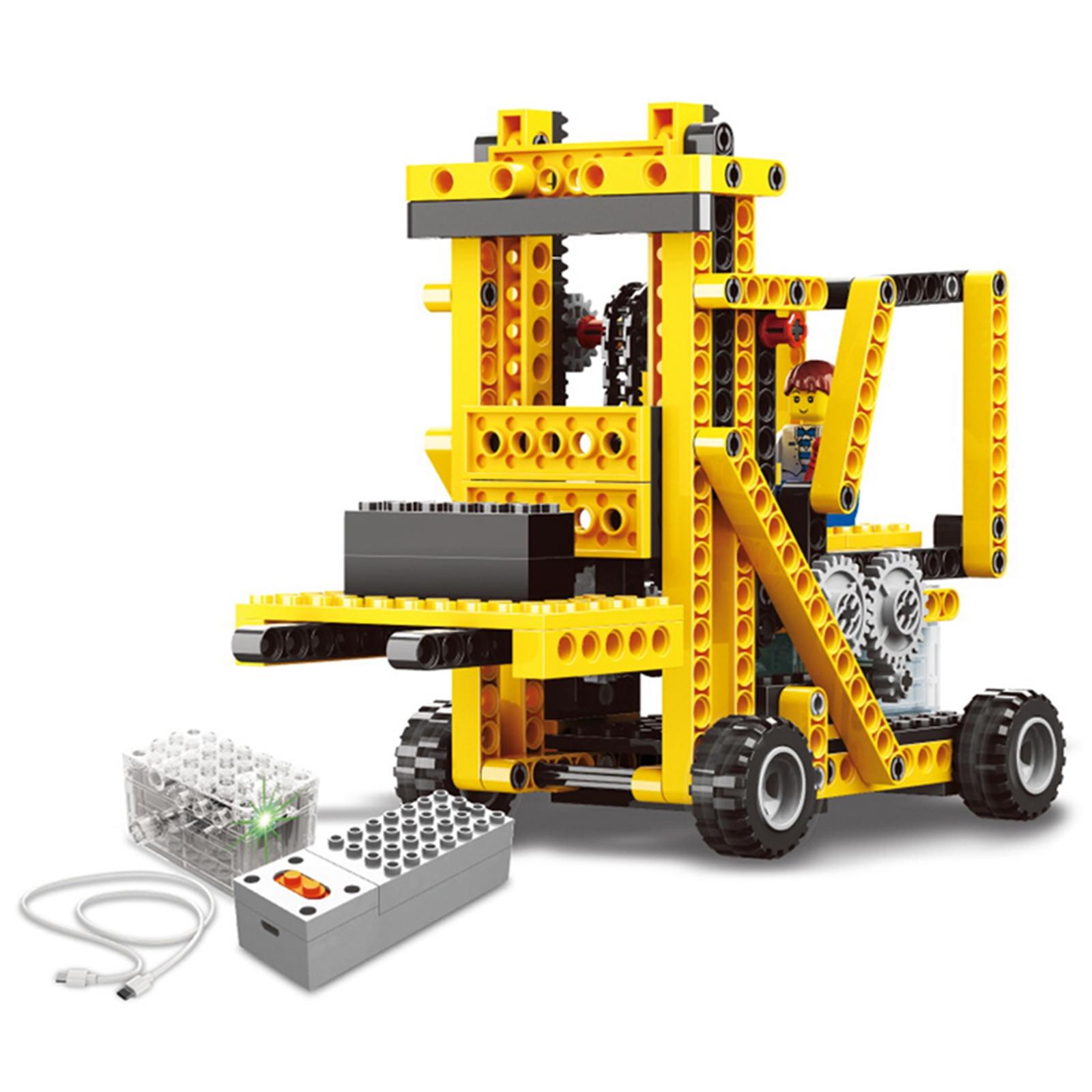 292PCS Machinery Series Electric Plastic Building Blocks ...