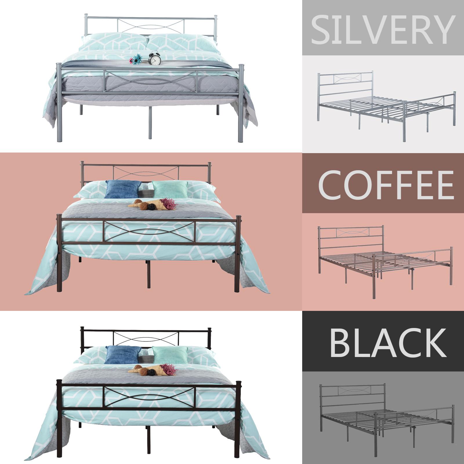 Twin Full Size Metal Platform Bed Frame Modern Home Bedroom  # Muebles Tumbing