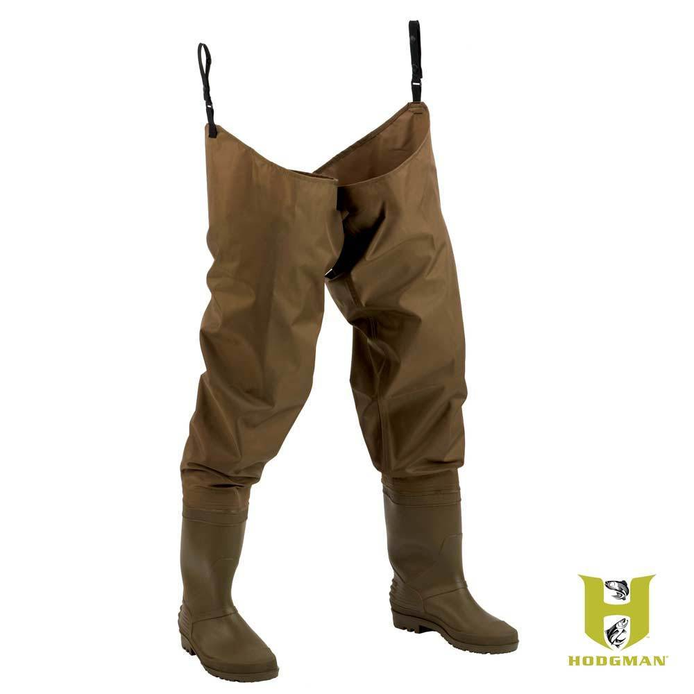 Hodgman fishing hunting pvc nylon waterproof hip waders for Fishing waders with boots
