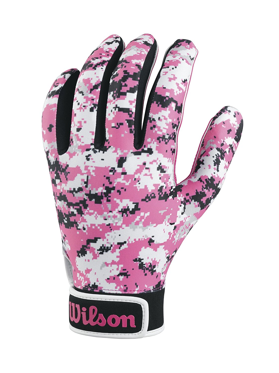 Wilson football receiver gloves Special Forces digi camo Pink Adult Youth sizes