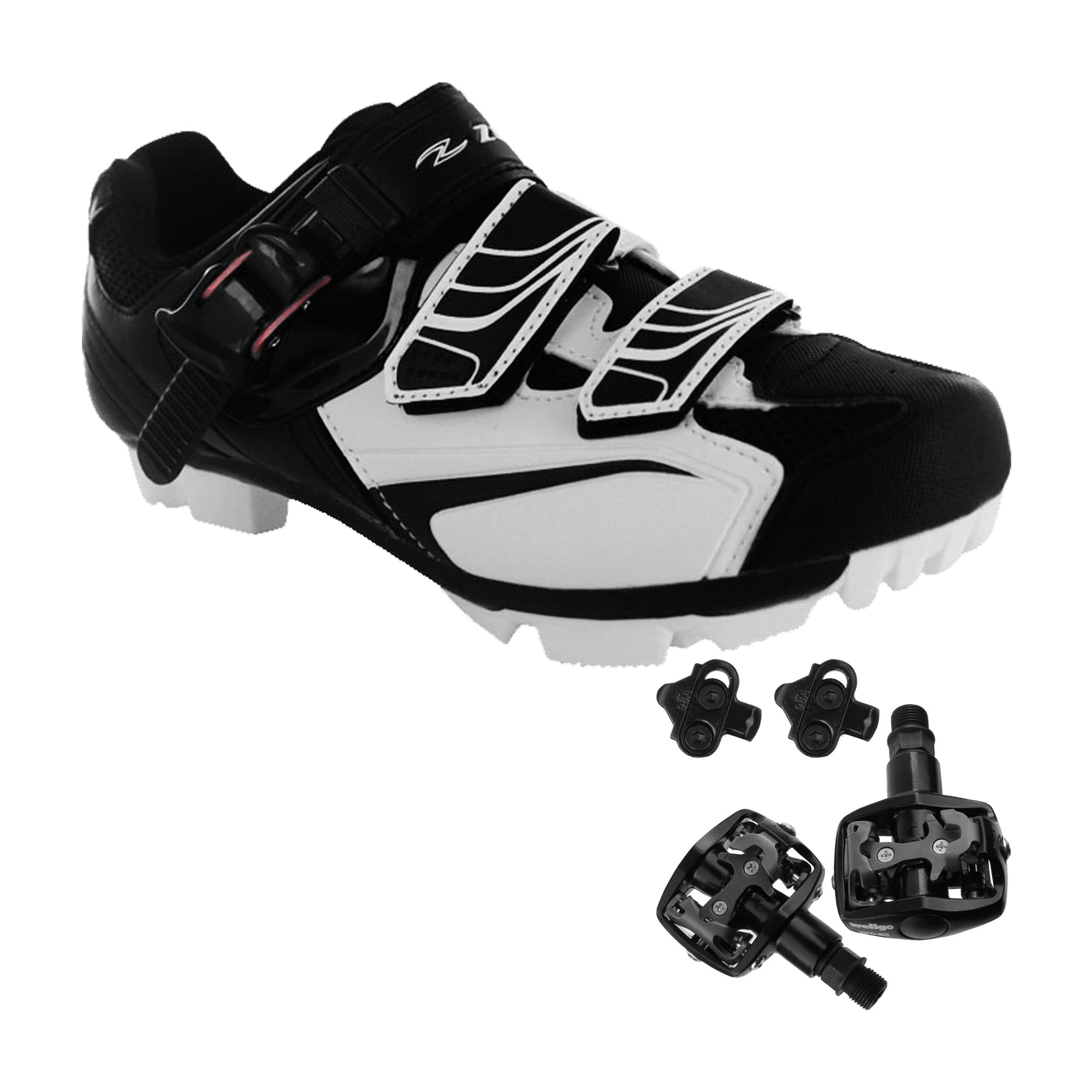 e306dbea3 Zol Trail Plus MTB and Indoor Cycling Shoes Pedals   Cleats Bundle ...