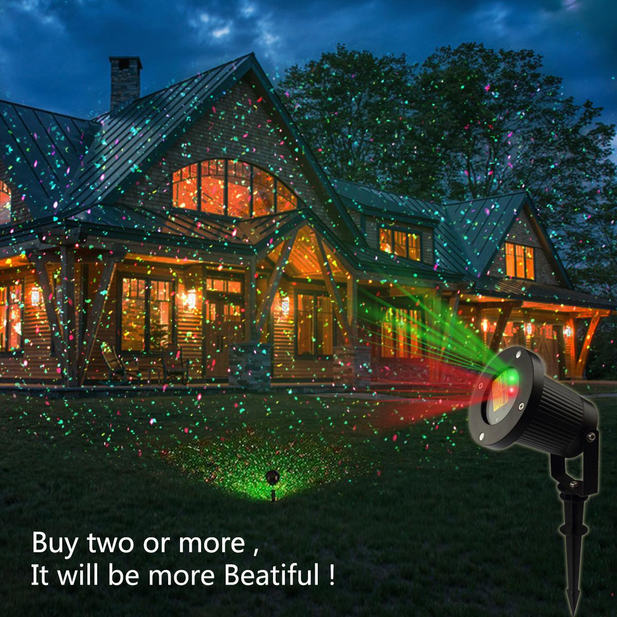garten lichter projektion licht landschaft projektor rf remote für