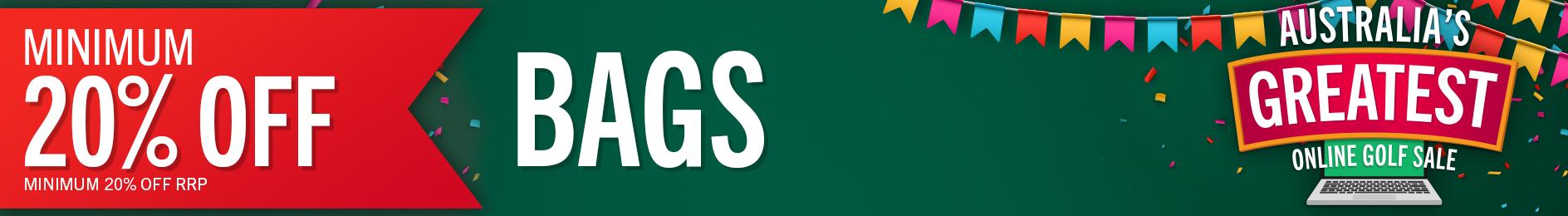 GolfBox Online Sale - Minimum 20% Off Bags