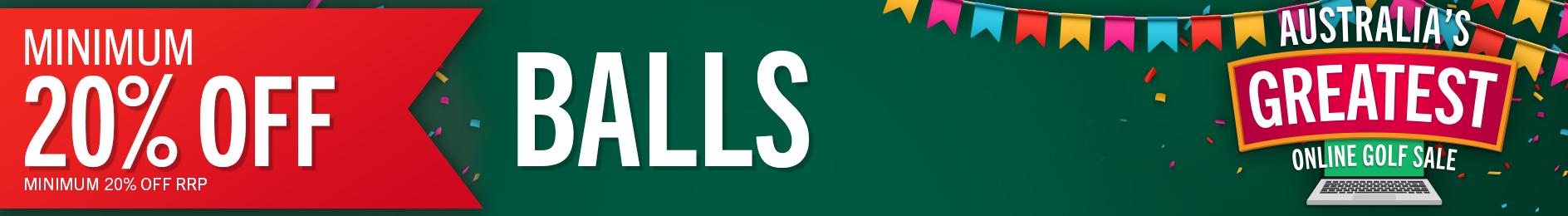 GolfBox Online Sale - Minimum 20% Off Balls