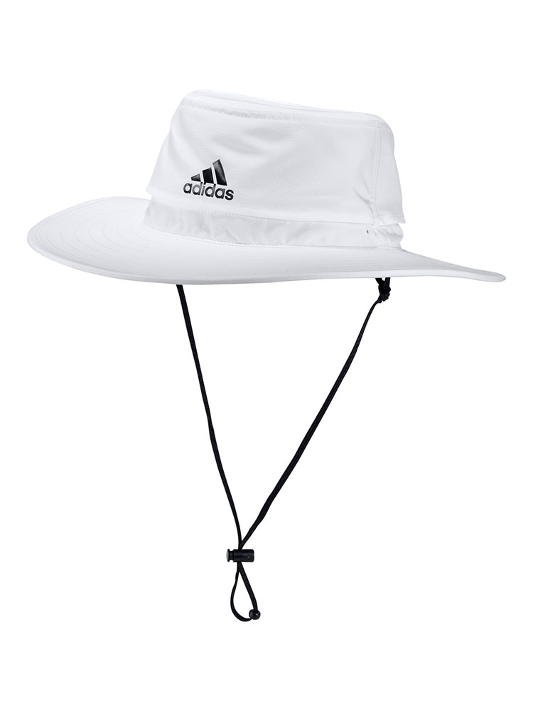 Adidas UPF Sun Hat - White -  Mens Polyester
