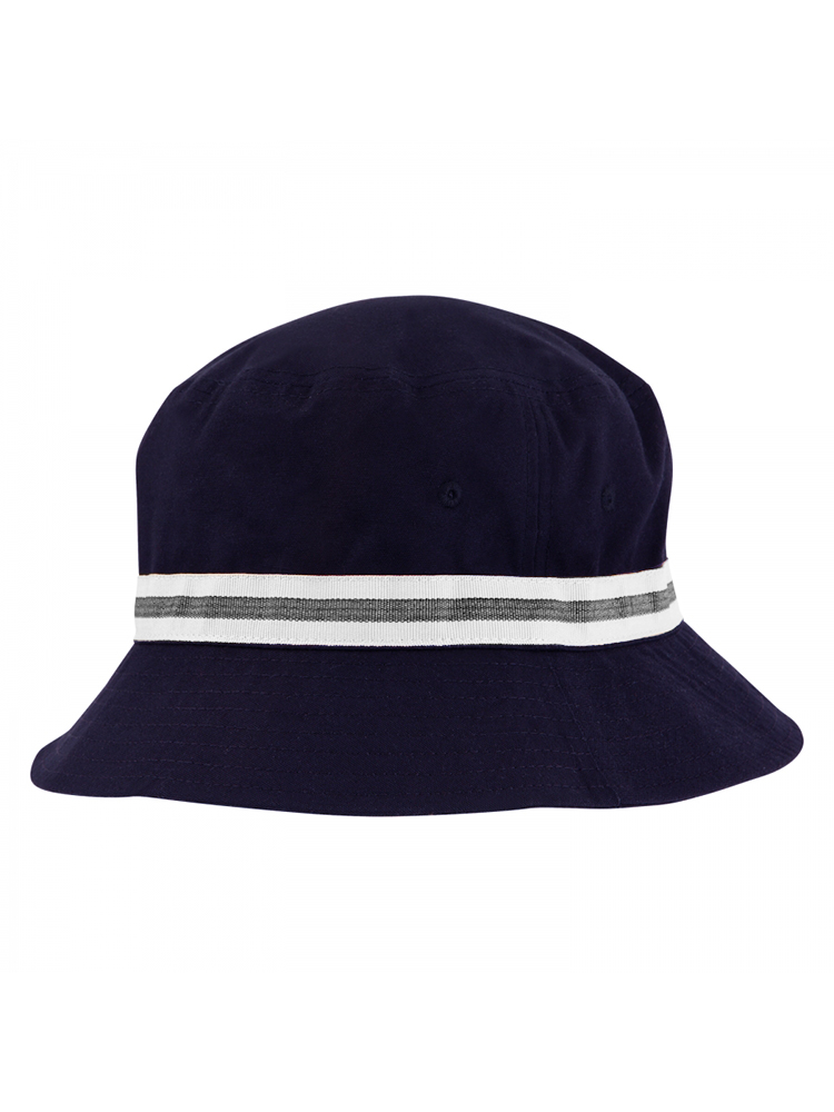d5d67e42373 Image is loading Sporte-Leisure-Stripe-Band-Bucket-Hat-French-Navy-