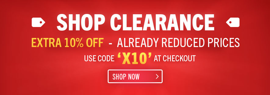 Extra 10% Off Clearance - Use Code X10 at Checkout