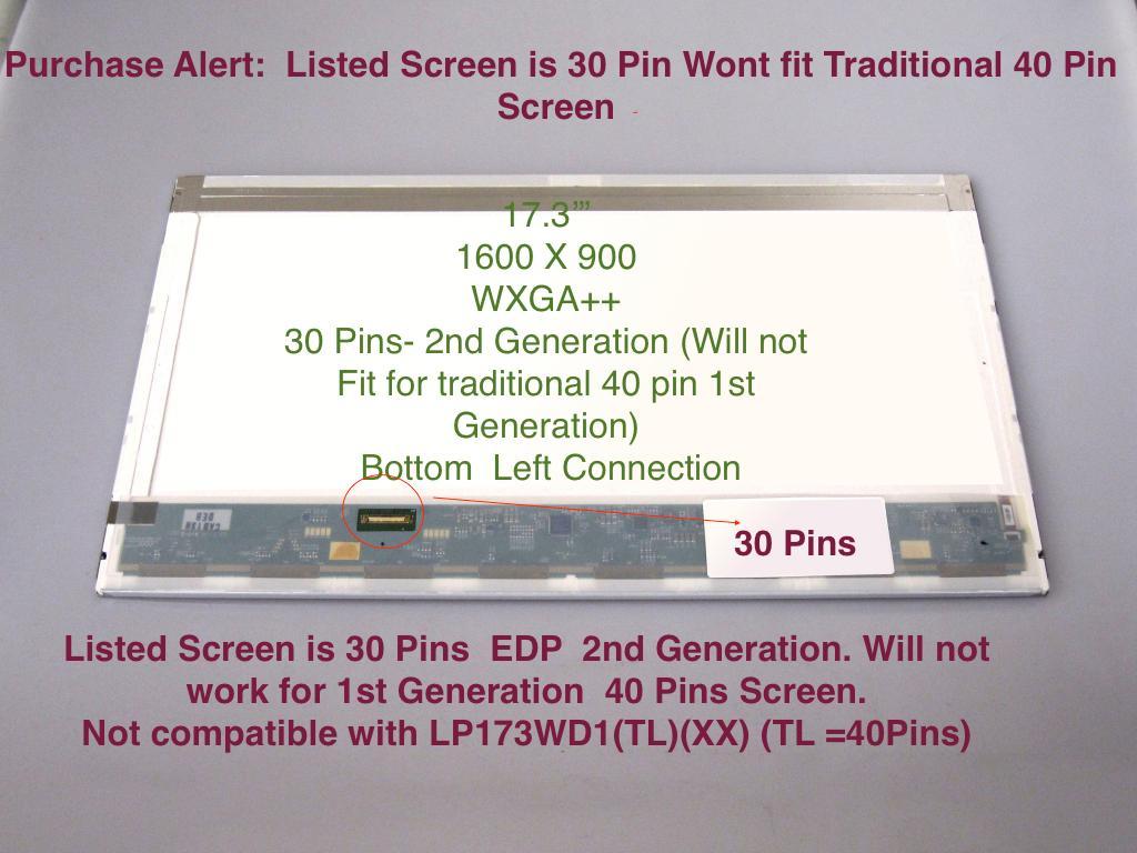 """HP PAVILION M6-1058CA LAPTOP LED LCD Screen 15.6/"""" WXGA HD Bottom Right"""