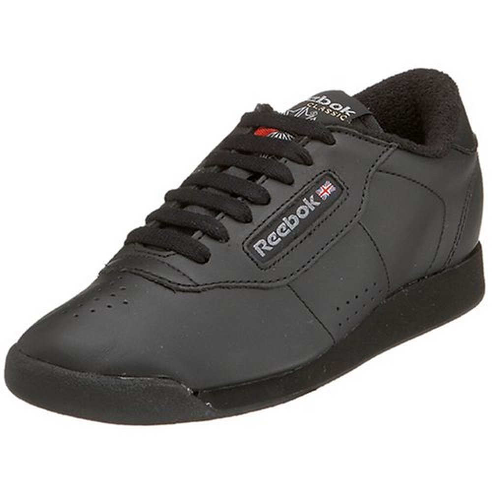Reebok Princess Classic Black Women Casual Walking Comfort Shoes ... 59c448cb9