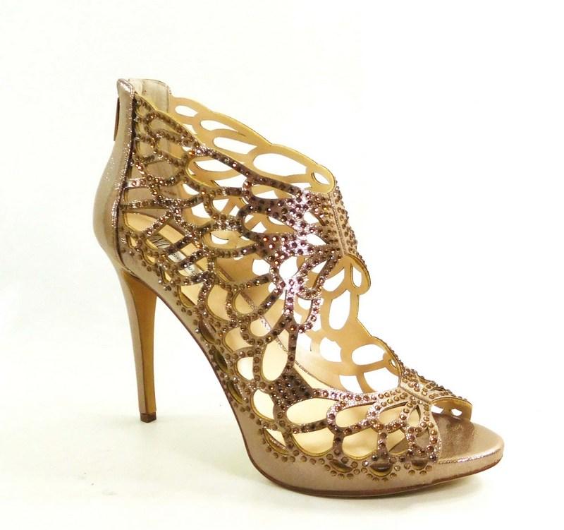 INC International Concepts Womens SARANE Fabric Open Toe LIGHT BRONZE Size 75
