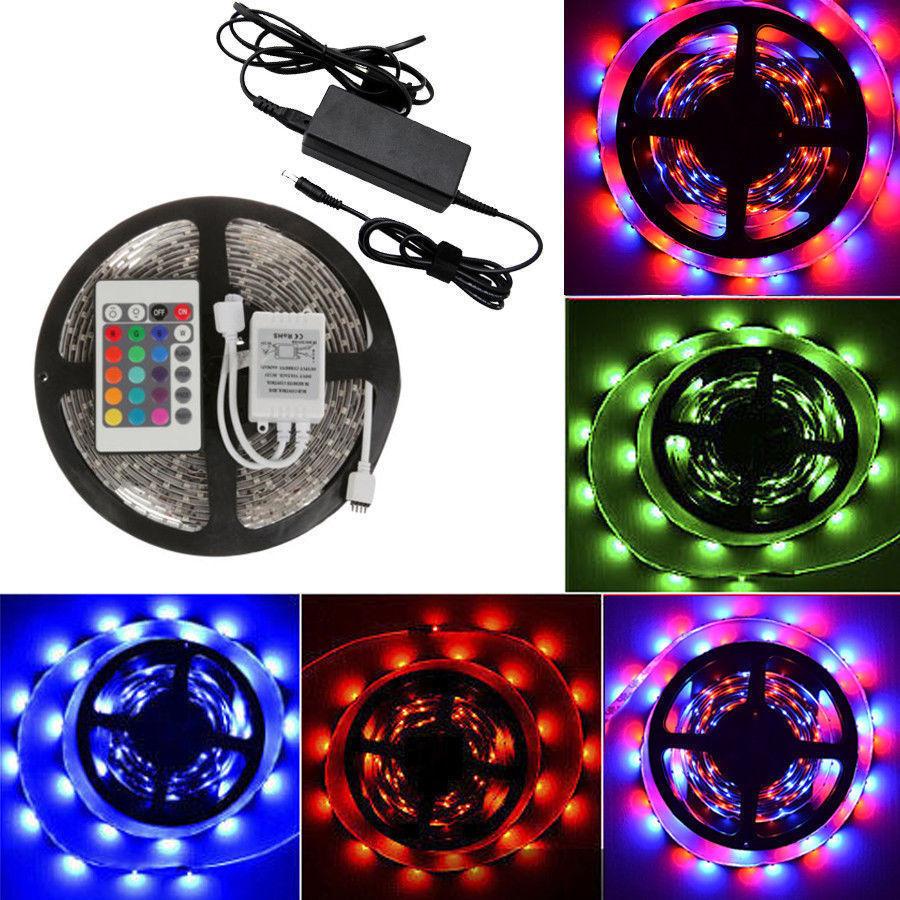5m 10m 15m 20m 3528 smd 300 led strip light lamp rgb waterproof power adapter ebay. Black Bedroom Furniture Sets. Home Design Ideas