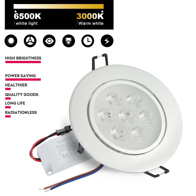 6 12 18pcs 3w 7w 12w recessed led kit ceiling down spot light lamp bulb driver ebay. Black Bedroom Furniture Sets. Home Design Ideas
