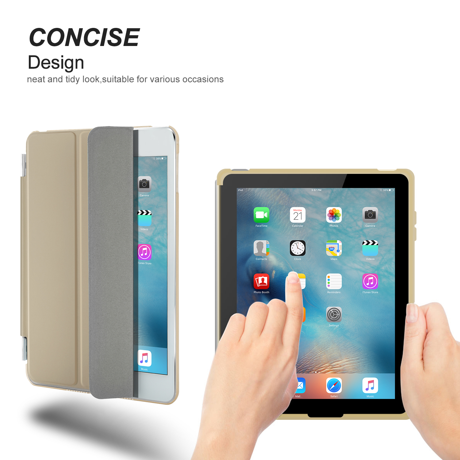 Slim Leather Smart Cover Back Skin Case for iPad 2/3/4/5/6 ...