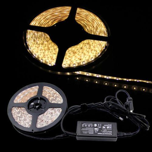3528 5050 5M Cool/Warm White 300SMD 12V LED Strip ...