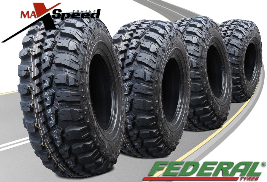 4x Federal Couragia Mt Lt285 70r17 10ply 121 118q All