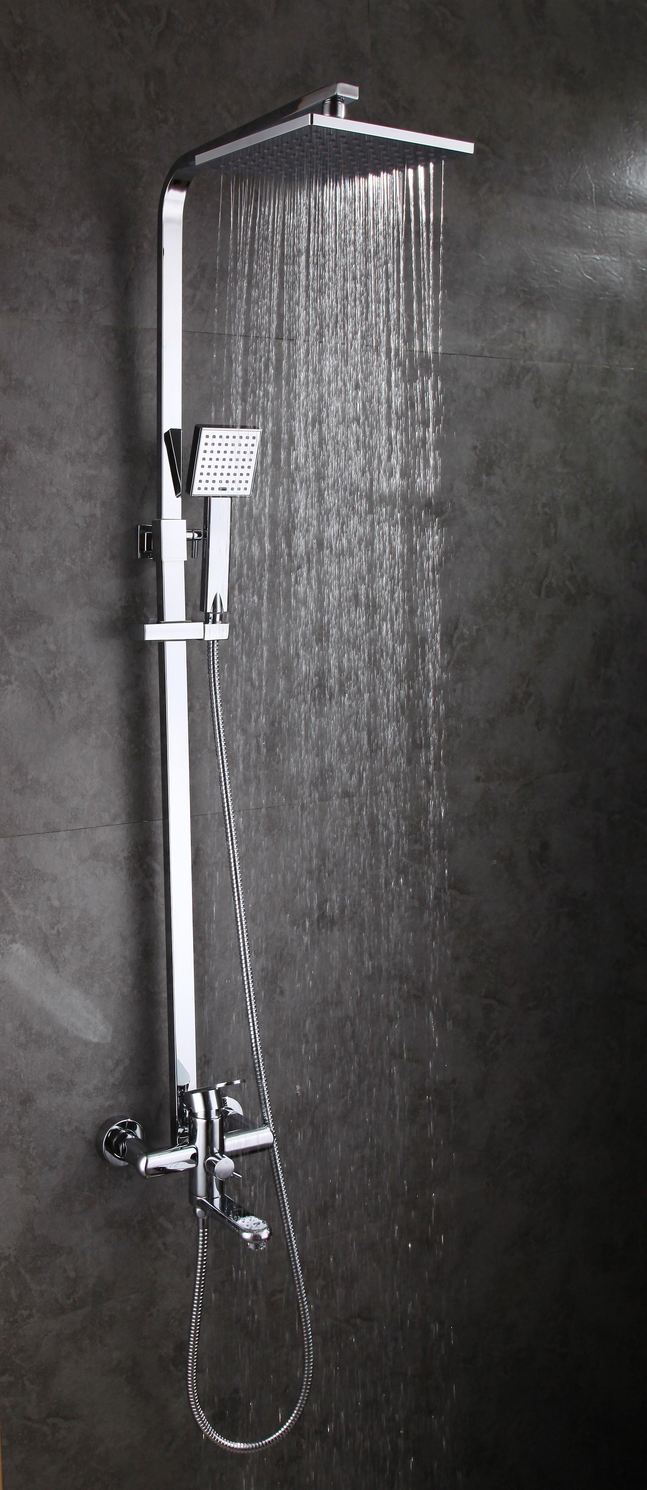 Modern Bathroom Wall Mount Rain Shower Set With Head