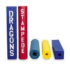 """Post Pad - Fits up to 4-1/2"""" Red/Blue"""