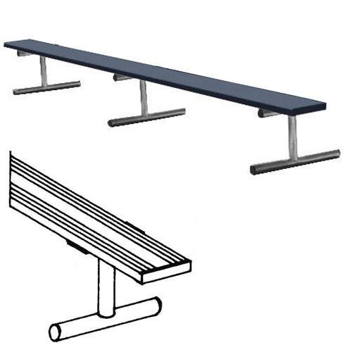 15' Portable Bench w/o Back (colored)