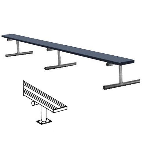 15' Surface Mt Bench w/o back (colored)