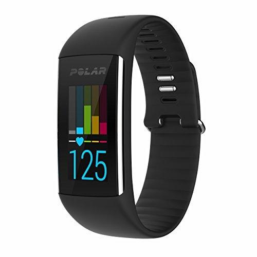 Polar A360 Fitness Tracker w/Heart Rate Monitor- Black Sz MD
